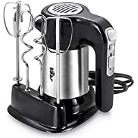 Bear Electric Hand Mixer with 4 Stainless Steel Accessories (Black)