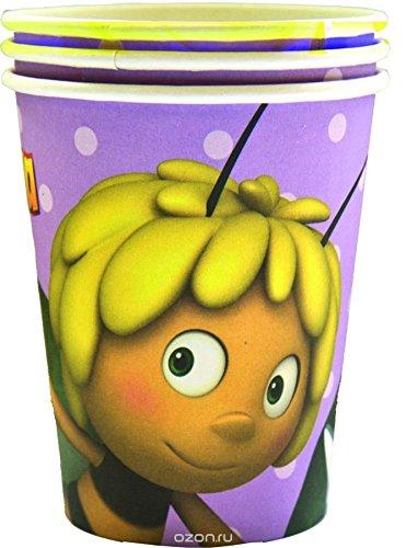 [RusToyShop] 6 tazas infantiles de fiesta de vacaciones silbato Maya la abeja mesa de fiesta golosinas suministros regalos cumpleaños