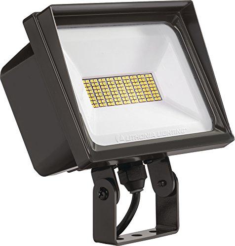 Lithonia Lighting QTE P3 50K 120 YK WH M6 LED Flood Light, 66 watts, 5000k, White