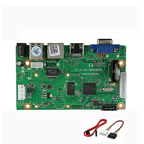 Quanmin 16CH 5MP H.265/H.264 Netzwerk Digital Video Recorder Mainboard Intelligente Analyse IP Kamera NVR Board Bewegungserkennung Max Unterstützung 8TB SATA HDD ONVIF CMS XMEYE mit Kabel P2P Cloud