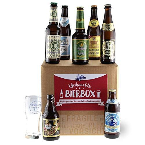 Bavariashop Bayerische Weihnachts Bier-Box, Zünftige Geschenkidee für Bier-Fans