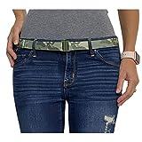 Tights Up: Cinturón elástico ajustable. Hebilla plana. Antideslizante (Camuflaje)