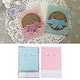 LianLe 100 Stk Geschenktüten Süßigkeiten Beutel Verpackung Plastiktütchen Candy Bags (Blau)