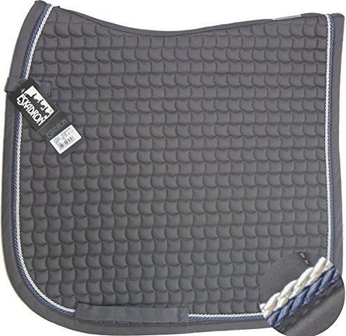 ESKADRON Cotton Schabracke grey, 2fach Kordel blue/silberfarben, Form:Dressur