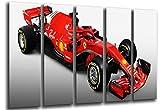 Cuadro Fotográfico Formula 1Coches, Ferrari F1sf71-h, Ferrari F12018, Sebastian Vettel, Kimi Raikkonen Tamaño total: 165 x 62 cm XXL