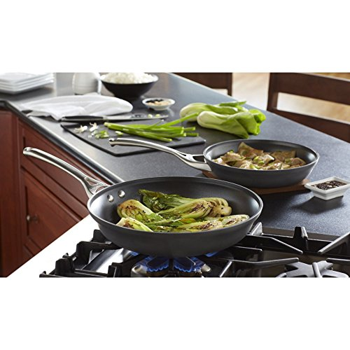 Calphalon Contemporary Hard-Anodized Aluminum Nonstick Cookware, Omelette Fry Pan, 10-Inch And 12-Inch Set, Black, New Version - 2018986