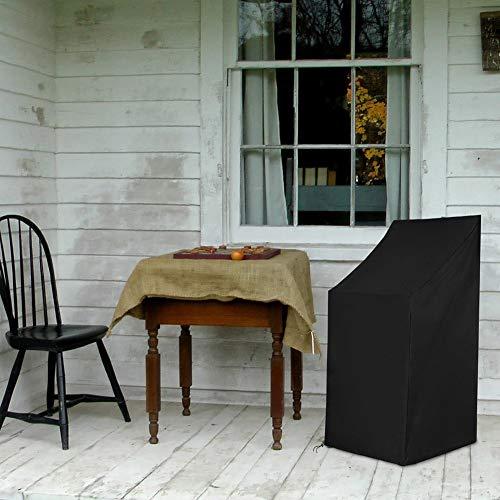 Heavy Duty dekkingen for meubels, binnen en buiten Seat Dust Cover, 210D Oxford doek Waterdicht/UV-bescherming/stofdicht en Duurzame Patio Chair Cover, Opvouwbaar, makkelijk op te bergen