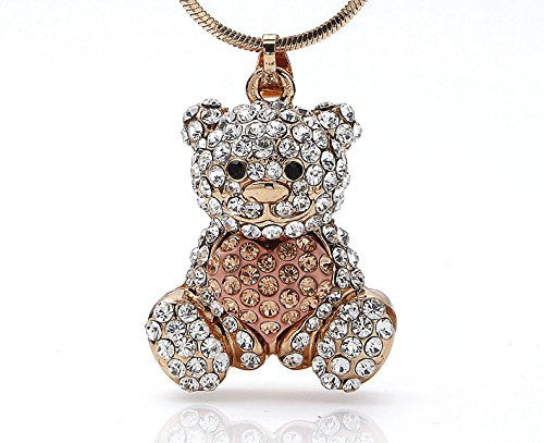Silvity Halsketting met hartvormige teddy-hanger