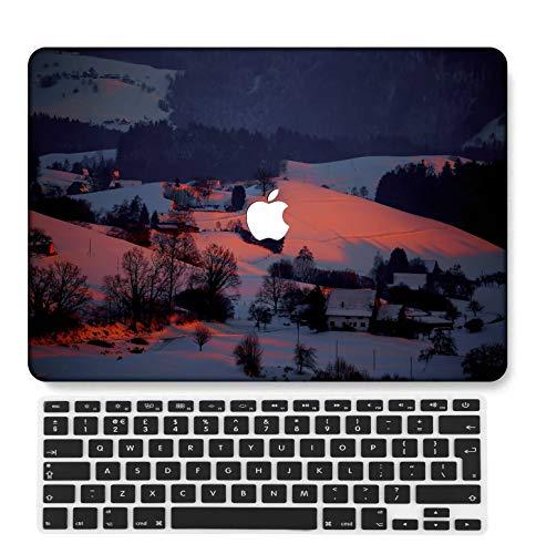 GangdaoCase Plástico Ultra Delgado Ligero Estuche RígidoDiseño Cortado Compatible MacBook Pro 13 Pulgadas Retina Pantalla Sin CD-ROM con UK Cubierta Teclado A1425/A1502 (Serie Rosa 0423)