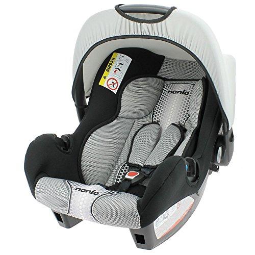 Mycarsit - Silla de coche grupo 0+ de 0 a 13 kg - fabricación 100% francesa - 4 estrellas test tcs - 4 colorido - protecciones laterales - reposa cabeza y asiento acolchados