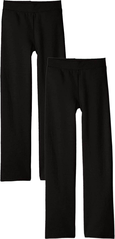 Hanes Girls' Open Leg Fleece Sweatpant (2-Pack)