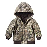Carhartt Kid's CP8536 Camo Active Jacket Flannel Quilt Lined - Boys - 3 Toddler - Mossy Oak