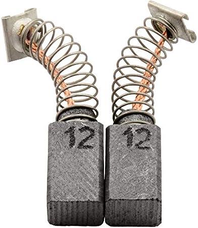 Escobillas de Carbón para HITACHI DH 22PH - 6,5x7,5x12mm - 2.4x2.8x4.7'' - Con dispositivo de desconexión