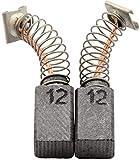 Escobillas de Carbón para HITACHI DH 24PB3 martillo - 6,5x7,5x12mm - 2.4x2.8x4.7'' - Con dispositivo de desconexión