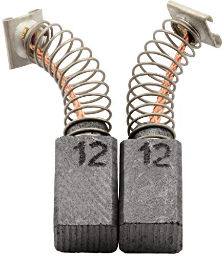 Escobillas de carbón Buildalot Specialty ca-17-47314 para Hitachi Martillo V14-6,5x7,5x12 mm - Con Dispositivo de desconexión, resorte, cable y conector - Reemplaza partes 999041, 999072 & 999080