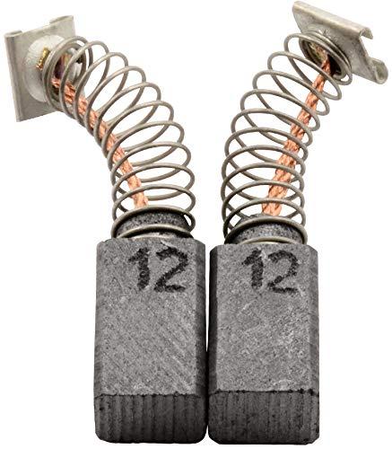 Escobillas de carbón Buildalot Specialty ca-17-46195 para Hitachi Taladro DV 16V - 6,5x7,5x12 mm - Con Dispositivo de desconexión, resorte, cable y conector - Reemplaza partes 999041, 999072 & 999080