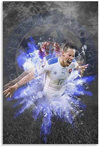 Luck7 Stampe Quadri 60x90cm Senza Cornice Calciatore Marek Hamsik HD Soccer Sports Art Poster e Wall Art Picture Print Modern Family Bedroom Decor