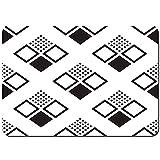 Antideslizante Alfombra De Baño,Patrones sin Fisuras Cuadrados Fondo Abstracto geométrico,Alfombra de Cocina Alfombra Mascota,Alfombras de Ducha 80x60cm