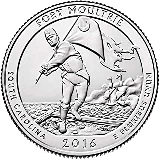 2016 S BU Fort Moultrie-Fort Sumter National Monument NP Quarter Choice Uncirculated US Mint