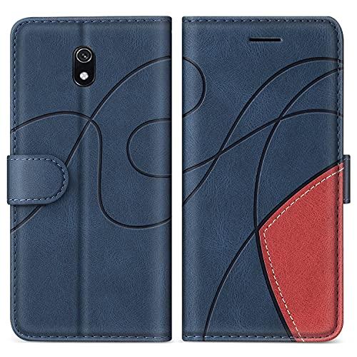 SUMIXON Hülle für Xiaomi Redmi 8A, PU Leder Brieftasche Schutzhülle für Xiaomi Redmi 8A, Kratzfestes Handyhülle mit Kartenfächern & Standfunktion, Blau