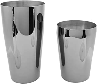Fdit 2pcs Stainless Steel Boston Cocktail Shaker Cup Bar Mixing Drink Bartender Tool