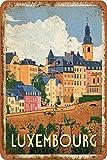 Luxemburg Straßen-Poster aus Zinn / Metall, für Garage,