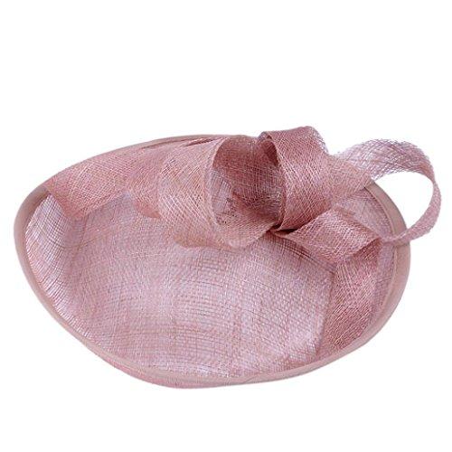Winkey 2018 - Tocado para mujer, diseño de sombrero de malla y plumas