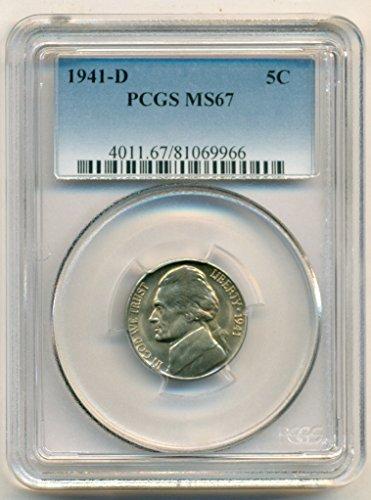 1941 D Jefferson Nickel MS67 PCGS