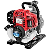 Honda Power Equipment WX10 52 PSI 4-Stroke Commercial Engine Gasoline Powered Water Pump with Hose Adapter, Suction Hose, Clamps, and Strainer