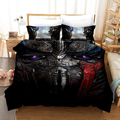 GD-SJK - Juego de ropa de cama infantil con diseño de Transformers Bumblebee, funda de almohada de 75 x 50 cm, funda nórdica de 135 x 200 cm, tejido Renforcé, A01, 220 x 240 cm