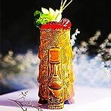 Copas de cóctel, 500 ml/Tiki Tazas Cóctel, Tiki Bar Glasses Tiki Webware Ceramic Hawaiian - Lindas Gafas de cóctel exóticas Tiki Bar Profesional Hawaiian Party Barware