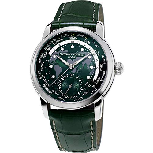 Frederique Constant Classic Manufacture Green Worldtimer FC-718GRWM4H6