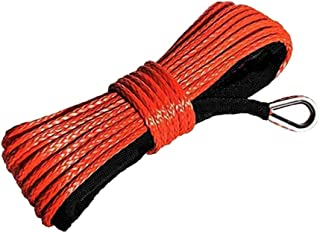 KLOP256 Cuerda cabrestante sintética 1/4''x50 'Camión Barco Coche Cable Emergencia ATV UTV con reemplazo Cuerda Vaina Acce...