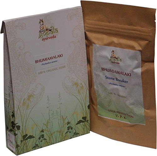 BHUMIAMALAKI (Phyllanthus amarus), Certificado ecológico por LACON GmbH en Europa, Planta Ayurveda para proteger el Higado, Protector hepático, Planta para limpiar el Hígado, 108 veg cápsulas (500 mg)