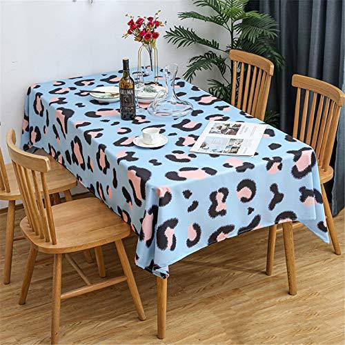 CCBAO Mantel De Poliéster Impreso Mantel De Sala De Estar Mantel Impermeable para El Hogar Mantel Cuadrado 140x220cm