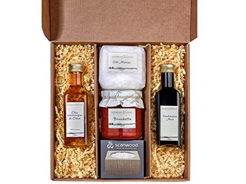Geschenk für Mama Weihnachten ALLA MAMMA Geburtstagsgeschenk Muttertag Italien Geschenkkorb mit Olivenöl Balsamico Essig Bruschetta Meersalz Salzfass