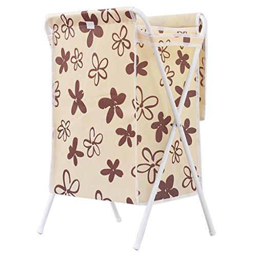 Xuan - Worth Another Modèle Floral Beige Tube Blanc Vêtements Sales Panier Tissu Oxford Matériel Panier Panier avec Couvercle