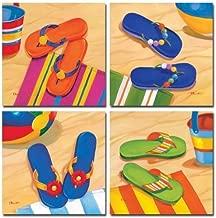 sand print flip flops