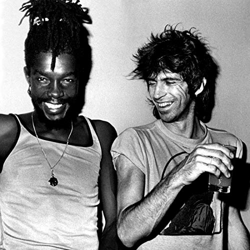 Peter Tosh & Keith Richards, Kingston, 1978 - Miniature Poster With Black Card Frame