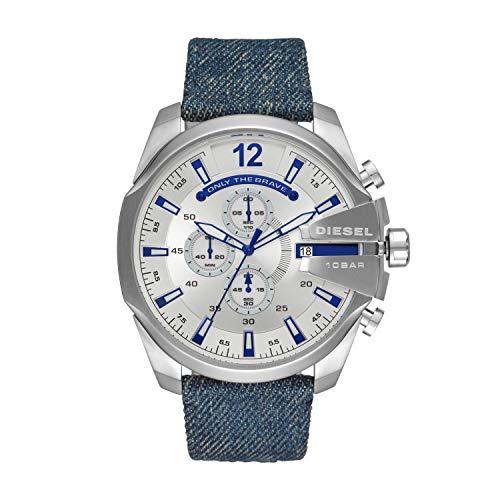 [男性用腕時計]Diesel Mens Chronograph Quartz Watch with Textile Strap DZ4511[並行輸入品]