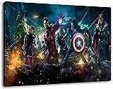 Marvel Helden Format 120x80 cm Bild auf Leinwand, XXL riesige Bilder fertig gerahmt mit Keilrahmen,...