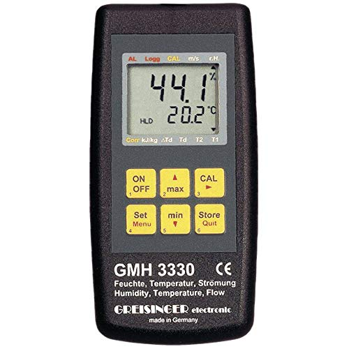 Greisinger GMH 3330 Luftfeuchtemessgerät (Hygrometer) 0% rF 100% rF Taupunkt-/Schimmelwarnanzeige