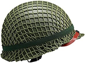 Replica WW2 US M1 Helmet Steel Field Green With Net Cover Eye Belt Reproduction