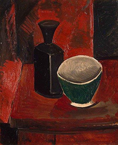 Das Museum Outlet–Picasso _ afrikanischen _ Zeitraum _ 2_ Grün _ Pfanne _ und _ schwarz _ Flasche–Leinwanddruck Online kaufen (101,6x 127cm)