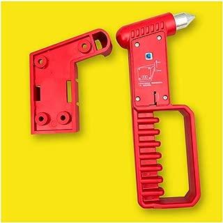 Kit di Sopravvivenza Salvavita Portatile Martello di Sicurezza Strumento di Fuga Demergenza Multi-fucntional con Interruttore per Finestrino della Macchina e Taglierina della Cintura di Sicurezza