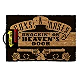 Pyramid International Guns N' Roses Knocking On Heaven's Door Mat, Coir, Black, 60 x 40 x 1.5 cm