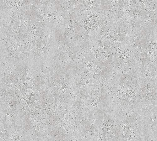 A.S. Création Vliestapete Beton Concrete & More Tapete in Vintage Beton Optik 10,05 m x 0,53 m grau Made in Germany 366004 36600-4