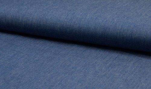 Leichter Denim Stoff in Jeansblau als Meterware zum Nähen von Erwachsenen, Kinder und Baby Kleidung, 50 cm