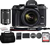 Canon EOS M5 Mirrorless Digital Camera with Canon 18-150mm Lens Bundle with Sandisk 32GB Memory Card + Carry Bag