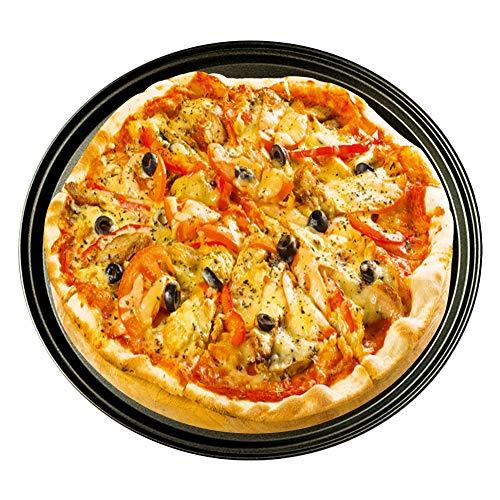 DOGKLDSF 12-Zoll-Pizza Pan, mit Löchern Antihaft-Backform Backgeschirr, für Restaurant Typ Pizza zu Hause Grill Barbecue 2ST